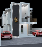 3 Bedroom Residential Building - SOUTH WEST NIGHT VIEW