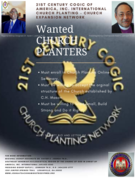 21st Century cogic church plantiers wanted