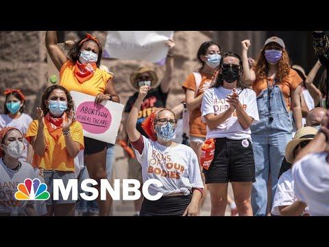 Texas Abortion Law Challenge MSNBC DOJ has options