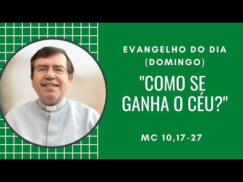 EVANGELHO DO DIA: 10/10 (Domingo): COMO SE GANHA O CÉU? - Mc 10,17-27 – Pe. Alberto Gambarini
