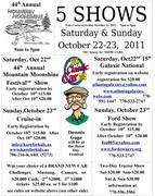44th Mountain Moonshine Festival -Dawsonville, GA