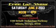 Free Car and Bike Show, ATLANTA June 8 2013