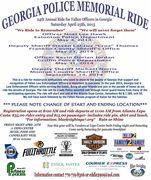24th Annual Georgia Police Memorial Ride,  Atlanta, GA.
