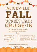 Aliceville Fall Street Fair Cruise-In -Aliceville, AL
