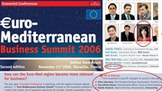 Euro Mediterannean Business Summit in France 2006 with Natasa Pantovic as one of speakers at the Economist Conference