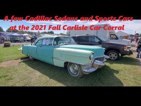Classic Car Shopping at the 2021 Fall Carlisle Car Corral Cadillac Sedans and Sports Cars Video 5