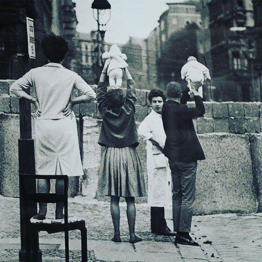 Residents Of West Berlin Show Children To Their Grandparents 1961