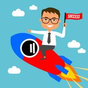 man-riding-rocket-sky-business