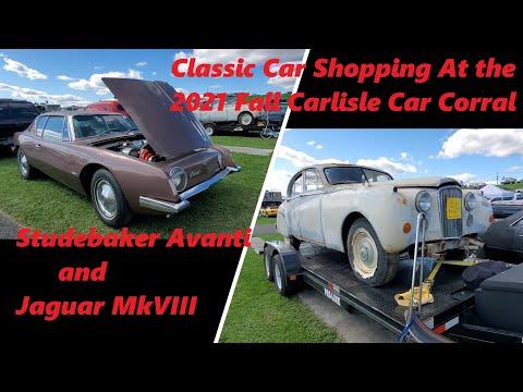 Classic Car Shopping At the 2021 Fall Carlisle Car Corral Studebaker Avanti & Jaguar MkVII  Video 7