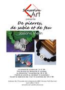 Affiche expo d'inauguration Sensation Art Josiane Melin