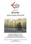 Affiche expo d'inauguration Sensation Art Jean-Marie Henrotte