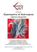 Affiche expo d'inauguration Sensation Art Liliane Magotte