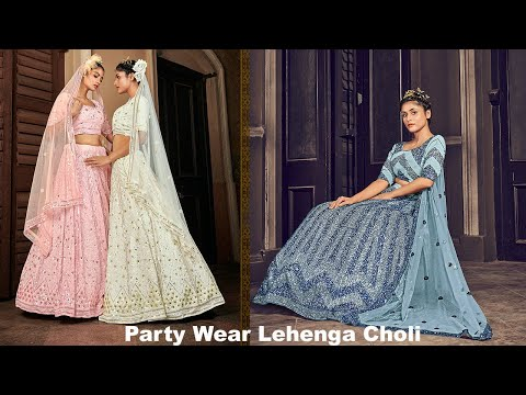 Latest Party Wear Lehenga Choli Online Shopping from Ethnic Plus at Best Prices