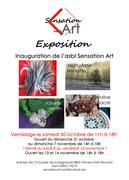 Affiche reprenant les artistes de l'expo.