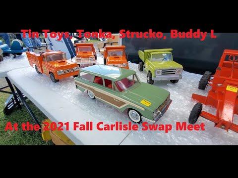 Swap Meet Safari At the 2021 Fall Carlisle Swap Meet Tonka, Structo, Buddy L Tin Toys Video 6