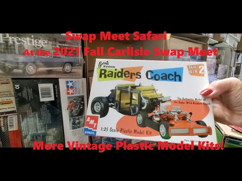 Swap Meet Safari At the 2021 Fall Carlisle Swap Meet More Vintage Plastic Model Kits Video 12