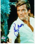Sir Roger Moore Signed 8x10 1