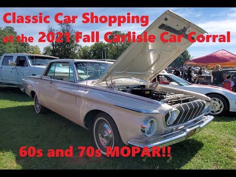 Classic Car Shopping At the 2021 Fall Carlisle Car Corral Volare, Swinger,Fury III, Polara Video 10