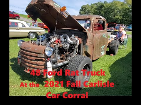 Classic Car Shopping At the 2021 Fall Carlisle Car Corral 1948 Ford F1 Rat Truck Video 11
