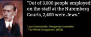 Of the 3,000 Staff Employed at Nuremberg Trials,2,400 were Jews