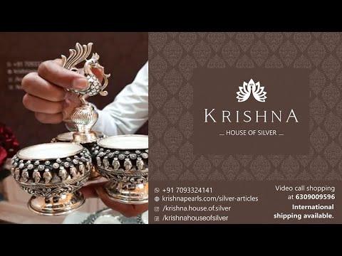 Silver Pooja Articles / Kumkum bowls / Agarbati stick stand / Krishna House Of Silver Jubilee Hills