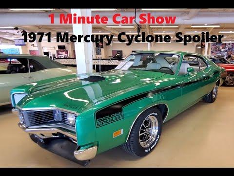 I Minute Car Show 1971 Mercury Cyclone Spoiler at the 2021 Fall Carlisle Auction