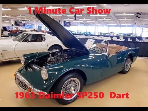 1 Minute Car Show 1963 Daimler SP250 Dart At the 2021 Fall Carlisle Auction