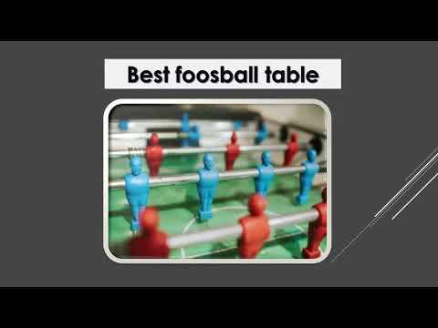Basics Of The Foosball Table