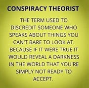 Everything is a conspiracy theory until proven true