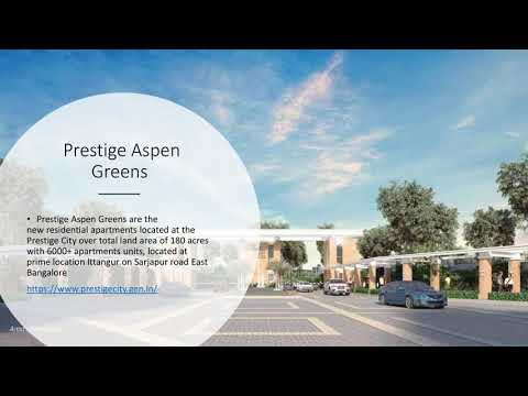 The Prestige City  / upcoming residential township project/ Sarajpura Road/ East Bangalore