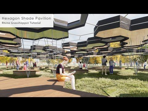 Hexagon Shade Pavilion Rhino Grasshopper Tutorial