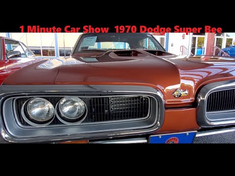 1 Minute Car Show 1970 Dodge Super Bee At the 2021 Fall Carlisle Auction