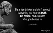 Be Critical,,,Think or Sink