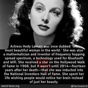 Actress Hedy Lamarr more than a beautiful woman