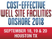 Well Site Facilities Onshore Summit 2018 Launches