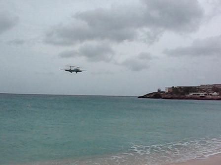 DAE PJ-DAA over Maho Beach