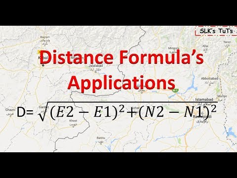 Land Survey : - Applications of Distance Formula in daily life.