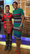 Carli Wallace and Robin Roberts at Good Morning America 2-6-2019 Tribute to Black Panther Movie for Black History Month